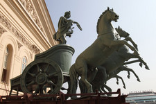 Bolshoi theatre Main (Historic) Stage - Apollo Quadriga - symbol of the Bolshoi Click to enlarge